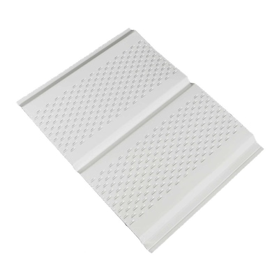Amerimax 13-in x 144-in White Aluminum Vented Soffit at