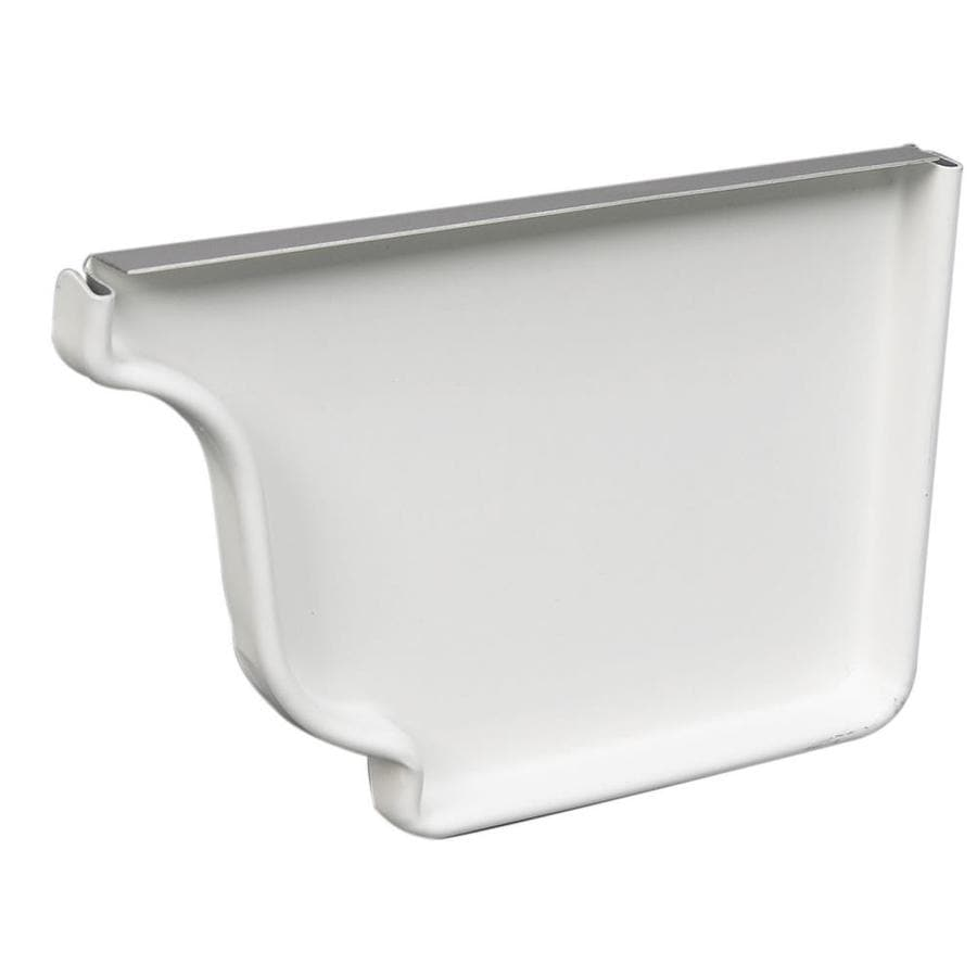 Amerimax Galvanized Steel K Style Right Gutter End Cap