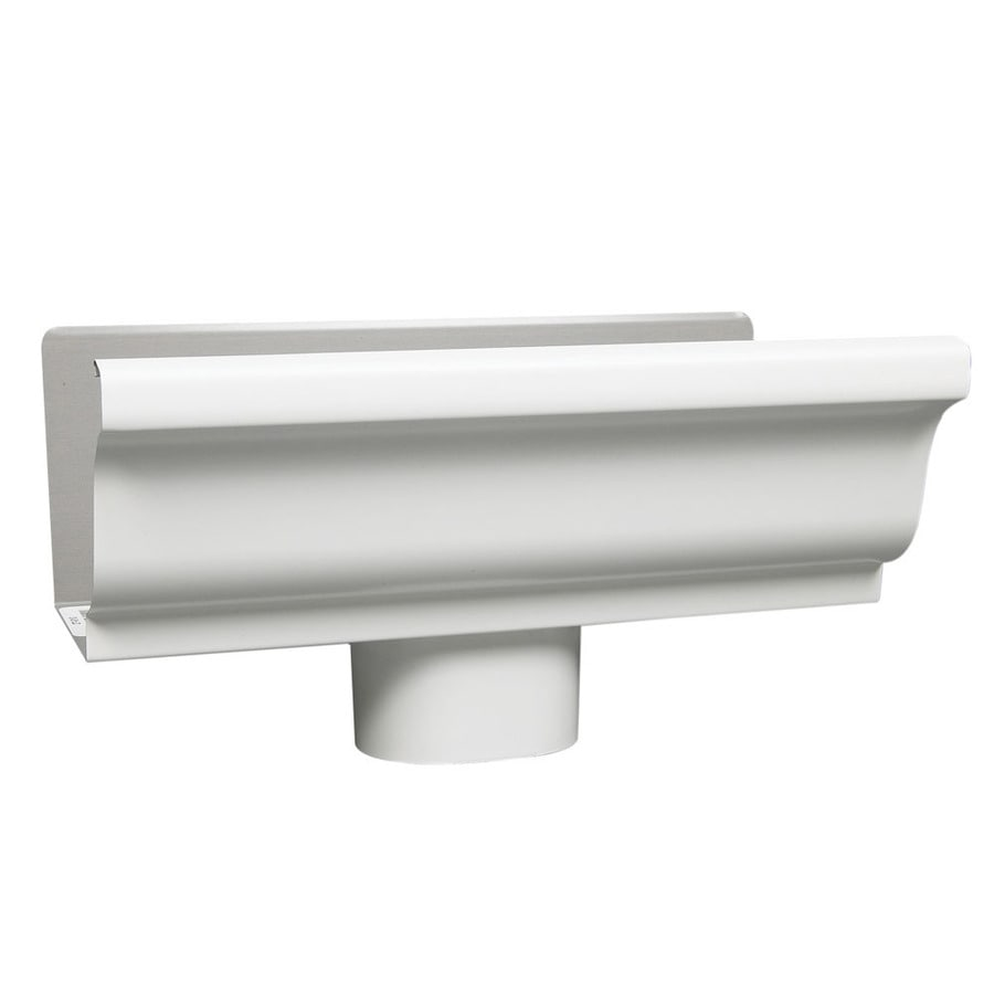 Amerimax 4-in x 8-in K Style Gutter End with Drop