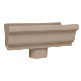 Amerimax 5 In X 10 K Style Gutter End With Drop
