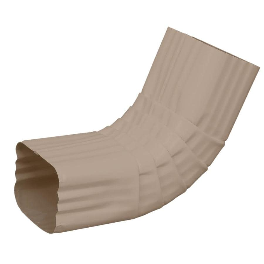Amerimax 3.25-in Natural Clay Aluminum Front Elbow