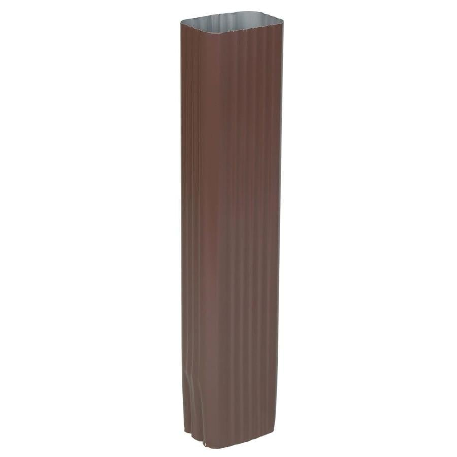 Amerimax 2.188-in Brown Aluminum Downspout Extension
