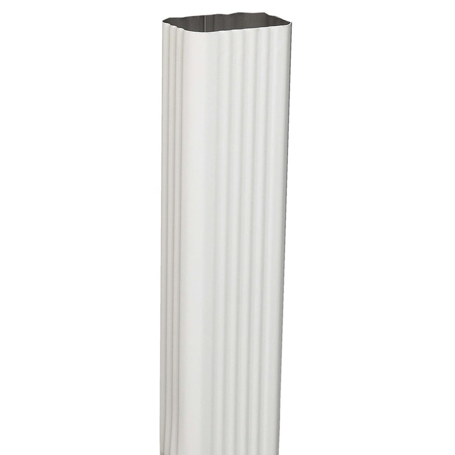 Amerimax 2.188-in White Aluminum Downspout
