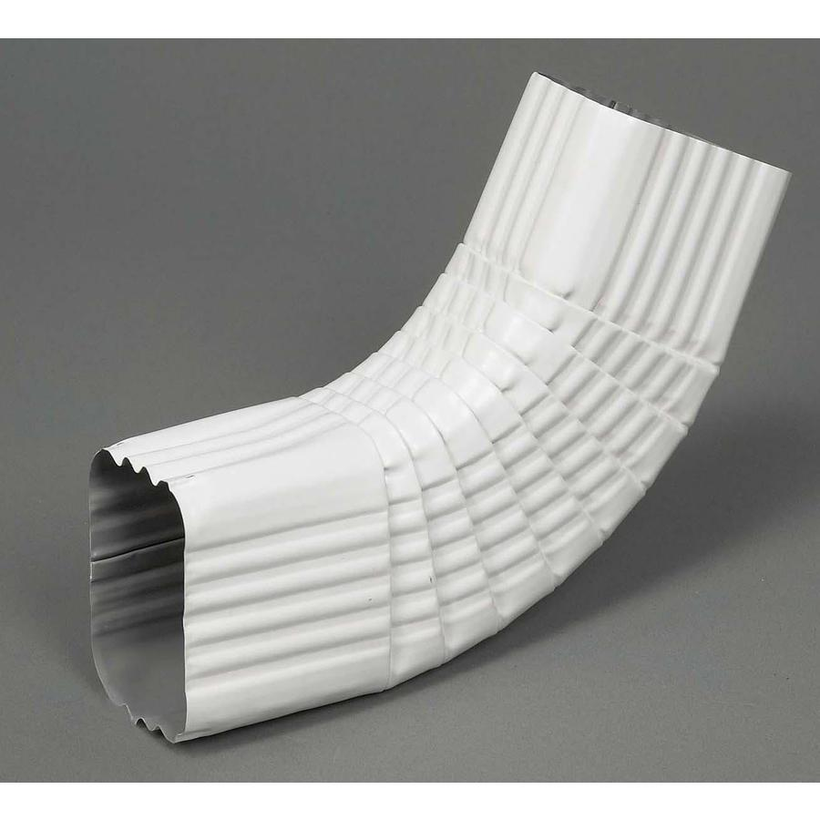 Amerimax 2 25 In White Aluminum Side Elbow In The Downspout Components Department At Lowes Com
