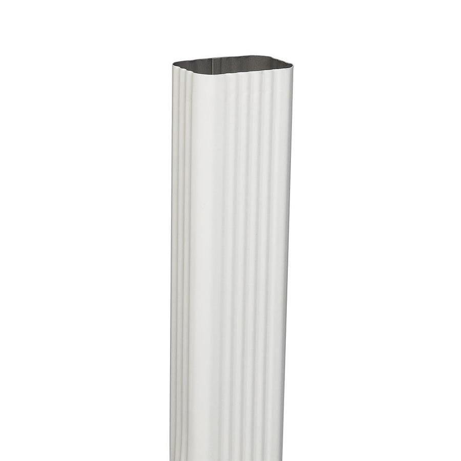 Amerimax 2.188-in White Galvanized Steel Downspout