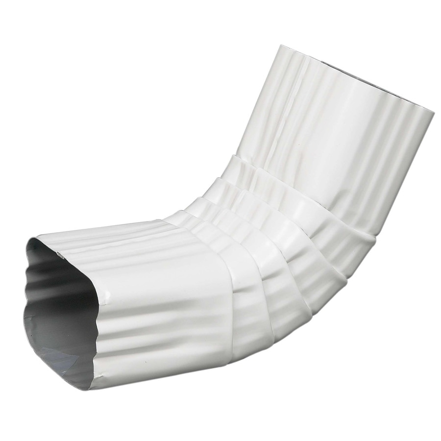 Amerimax 3.25-in White Galvanized Steel Front Elbow
