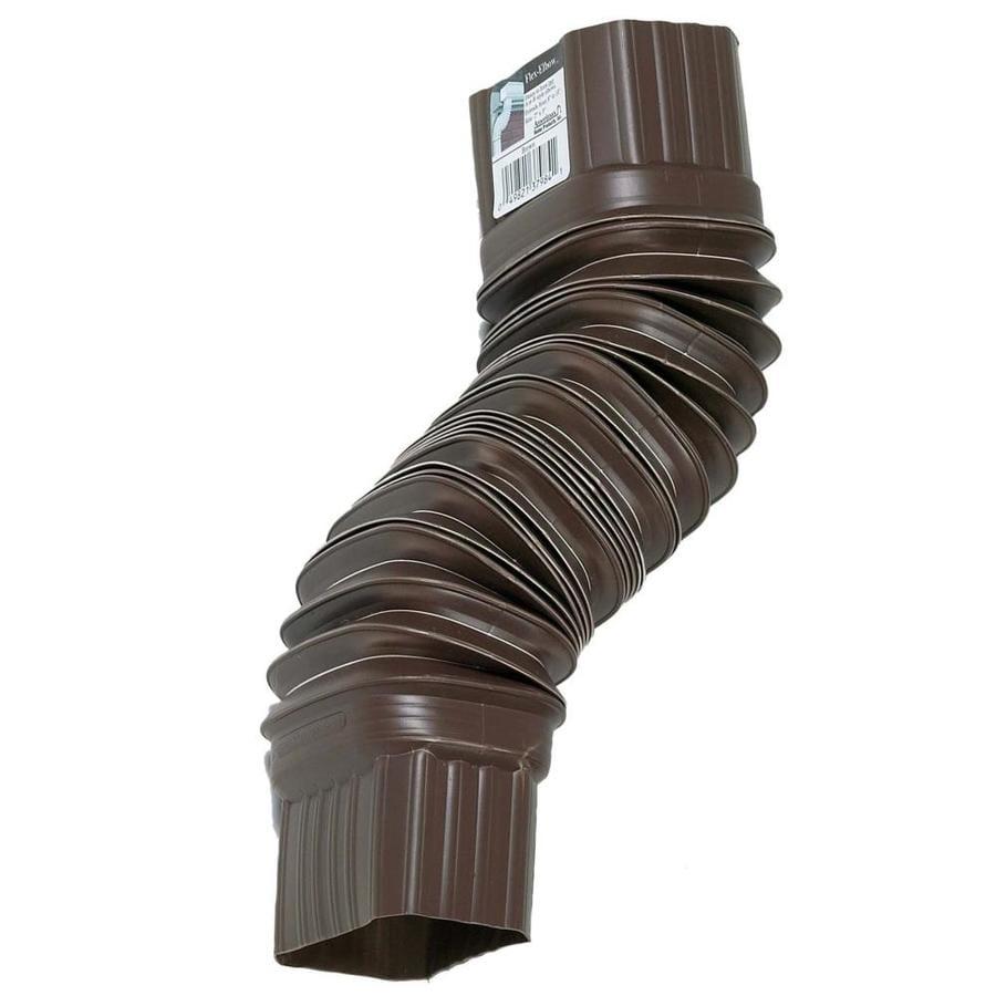 Amerimax FLEX-ELBOW 2-in Brown Vinyl Front Elbow