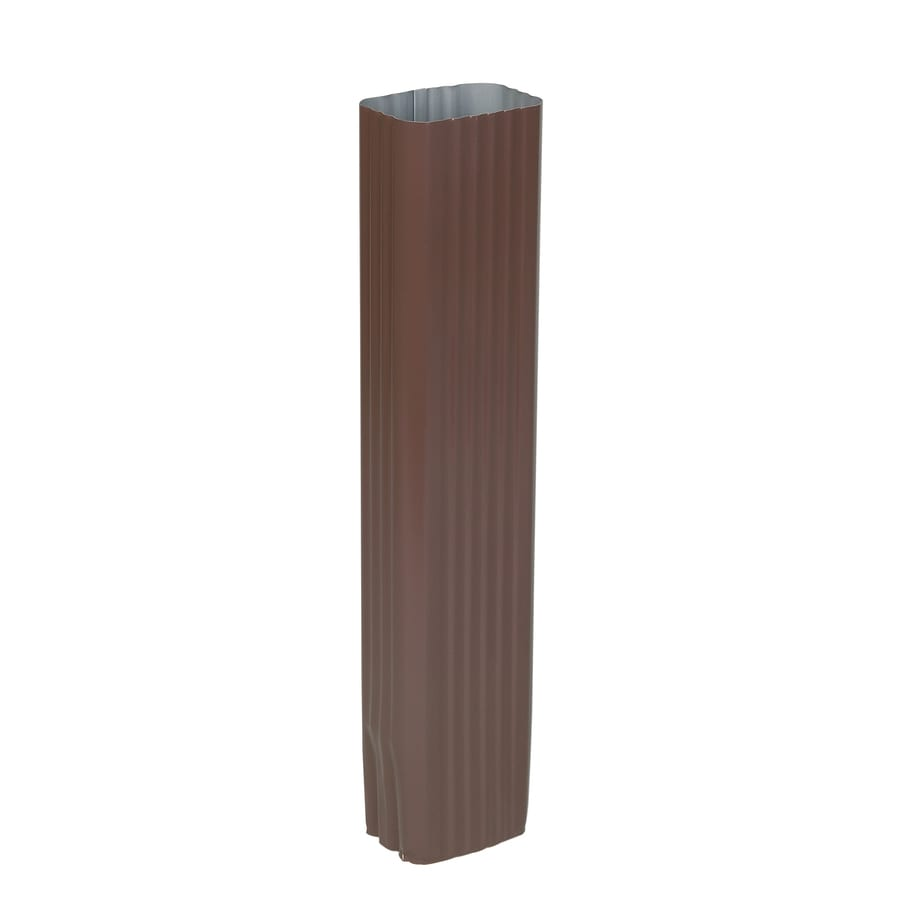 Amerimax 2.8125-in Brown Aluminum Downspout