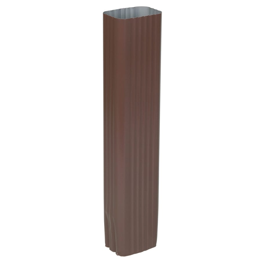 Amerimax 2.8125-in Brown Aluminum Downspout Extension