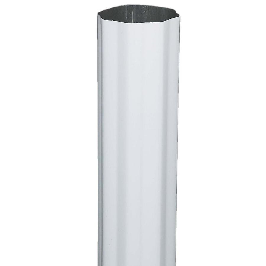 Amerimax 3.93-in Hi-Gloss White Aluminum Downspout
