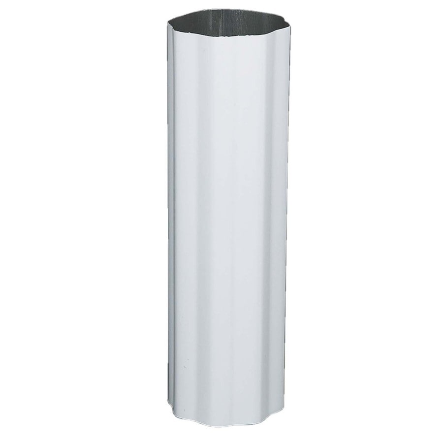 Amerimax 2.93-in Hi-Gloss White Aluminum Downspout