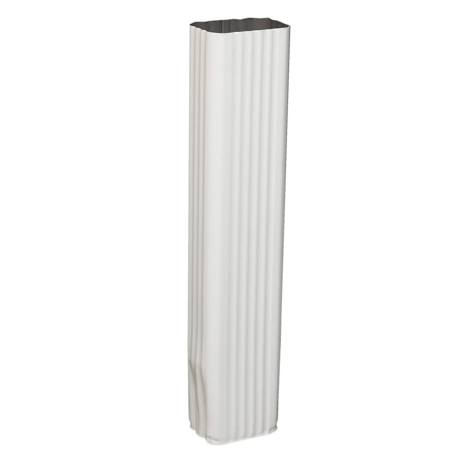 Amerimax 2.8125-in White Aluminum Downspout Extension