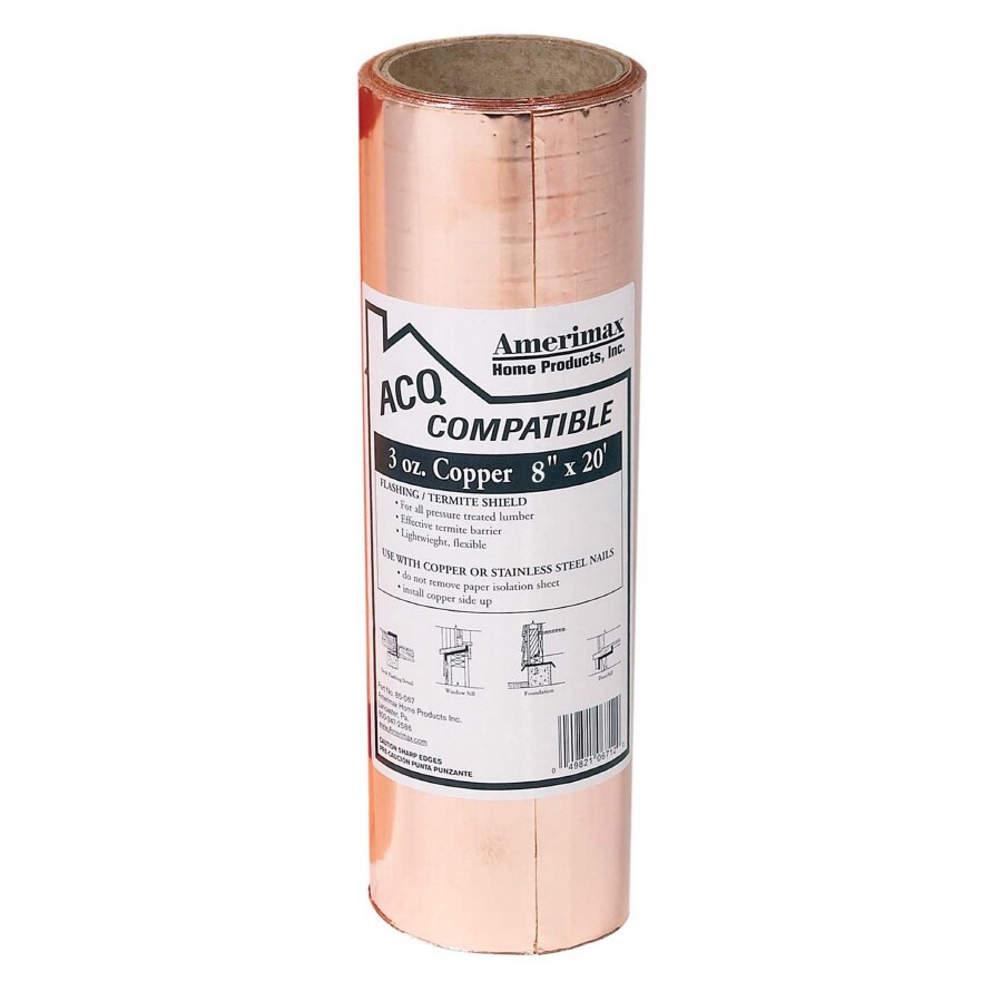 Amerimax 8-in x 20-ft Copper Roll Flashing