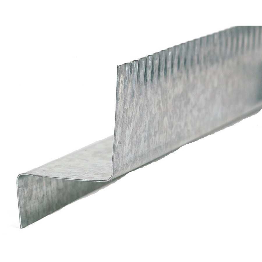 Amerimax Z Bar 0.4375-in x 120-in x 1-in Galvanized Steel Z Flashing