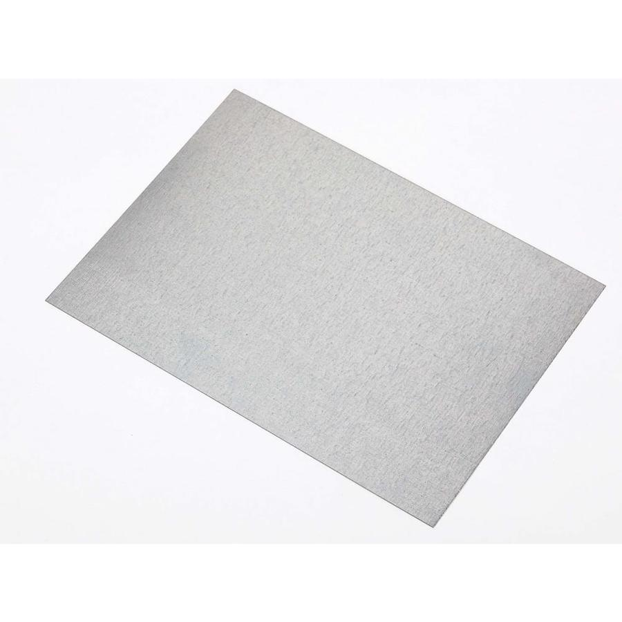 Shop amerimax flat shingle 5 in x galvanized steel for Galvanized metal sheets for crafts