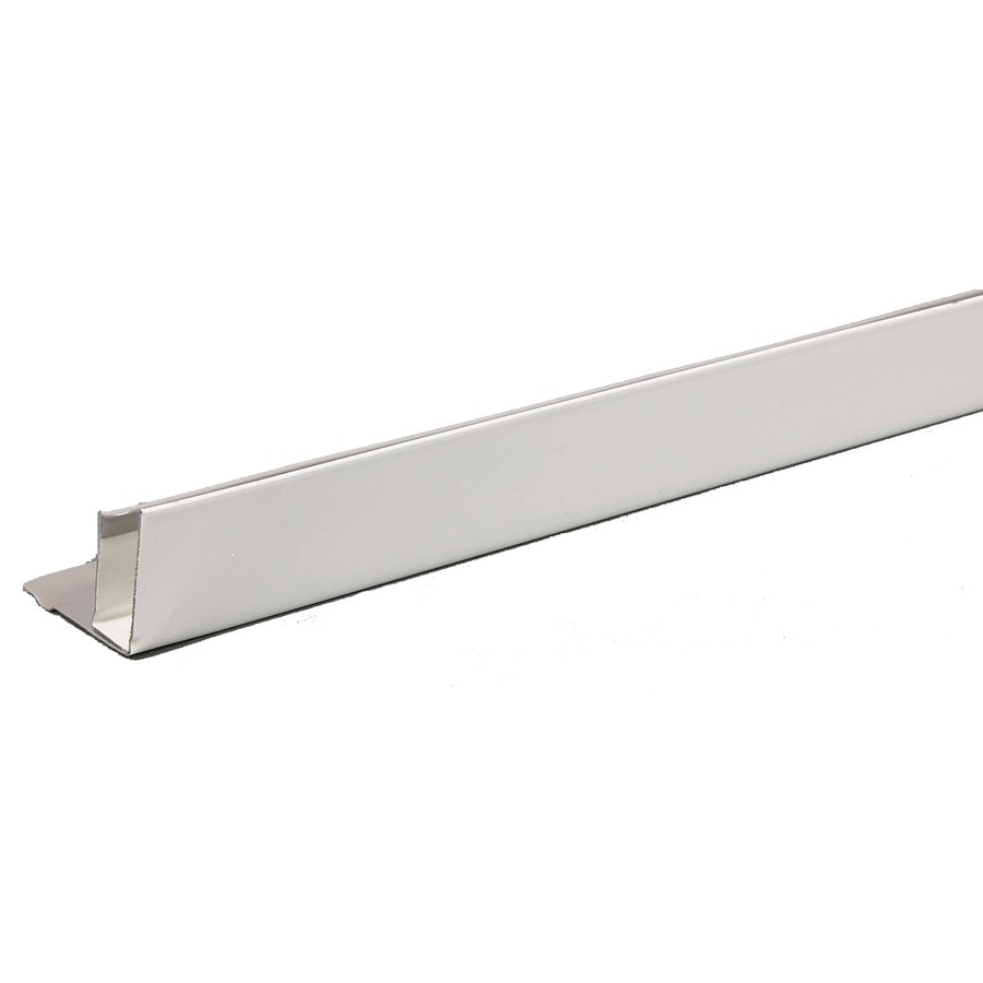 Amerimax 1.5-in x 144-in White F-Channel Metal Siding Trim