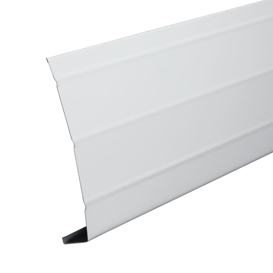 Shop Amerimax 8 In X 12 Ft White Smooth Aluminum Fascia At