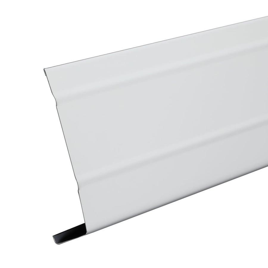 Amerimax 4-in x 12-ft White Smooth Aluminum Fascia