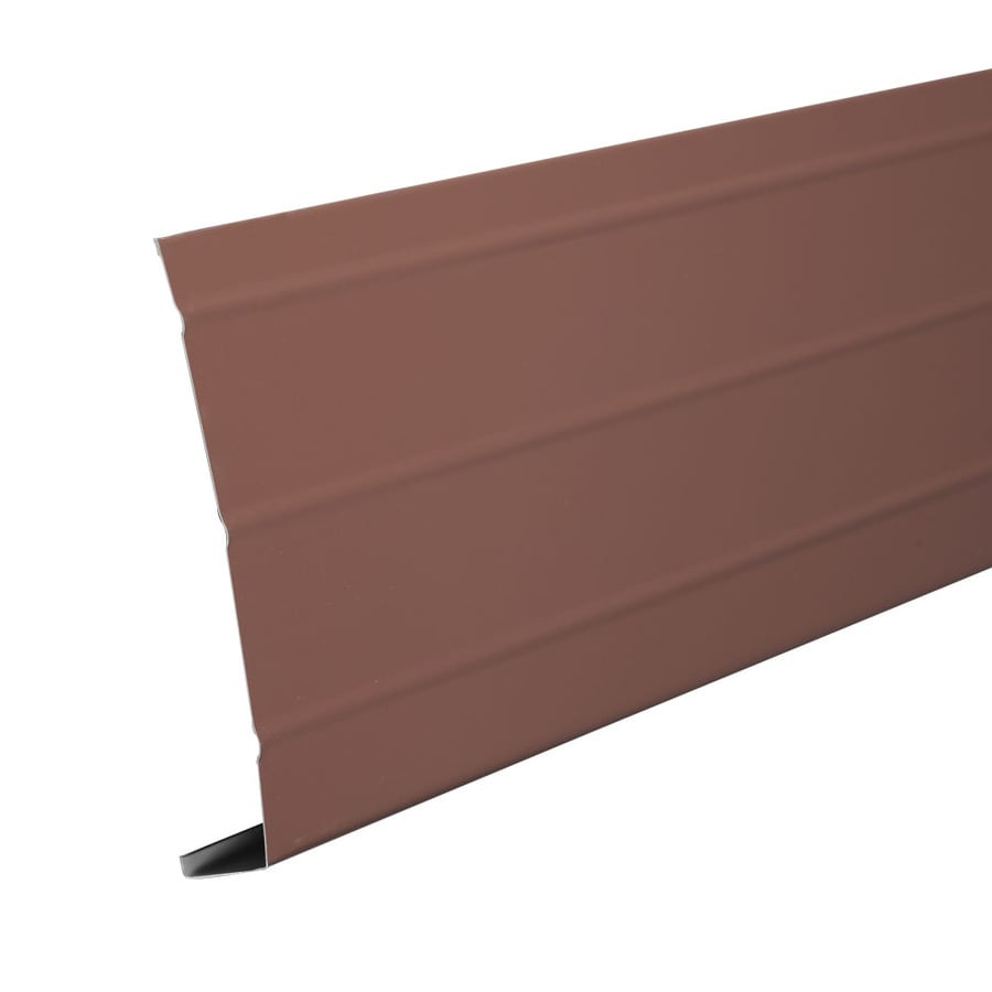 Amerimax 6-in x 12-ft Brown Smooth Aluminum Fascia