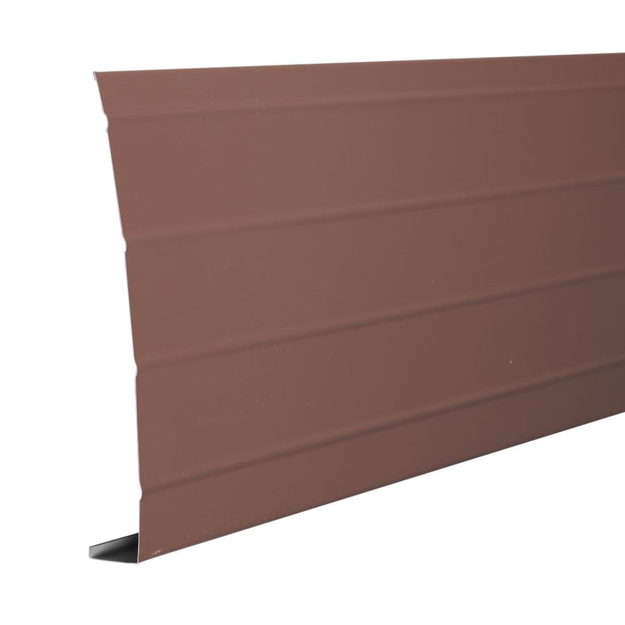 Amerimax 8-in x 12-ft Brown Smooth Aluminum Fascia