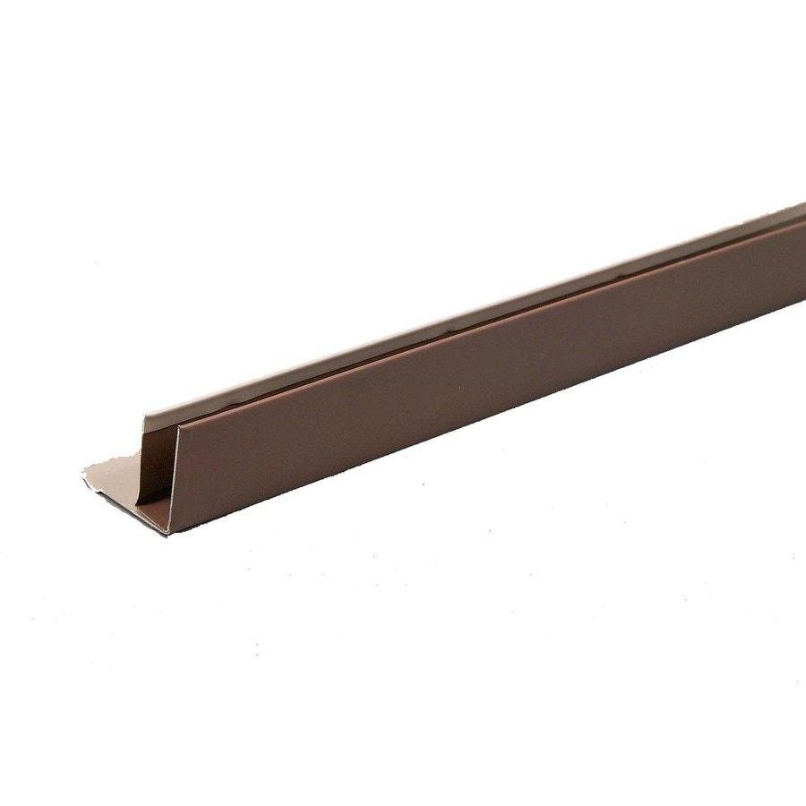 Amerimax 1.5-in x 144-in Brown F-channel Metal Siding Trim