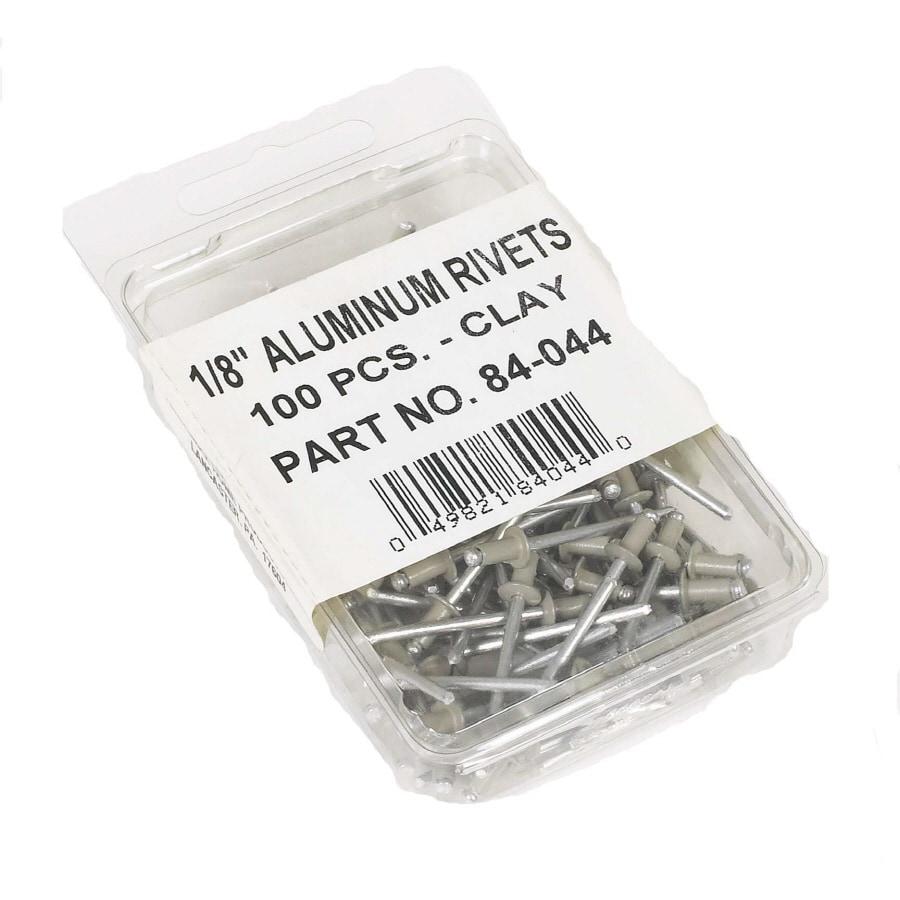 Amerimax 100-Pack 1/8-in Natural Clay Aluminum Rivets