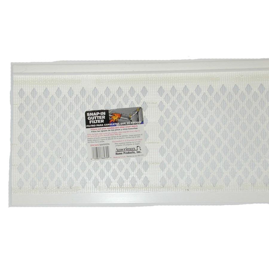 Amerimax Snap-in Gutter Filter PVC Gutter Screen
