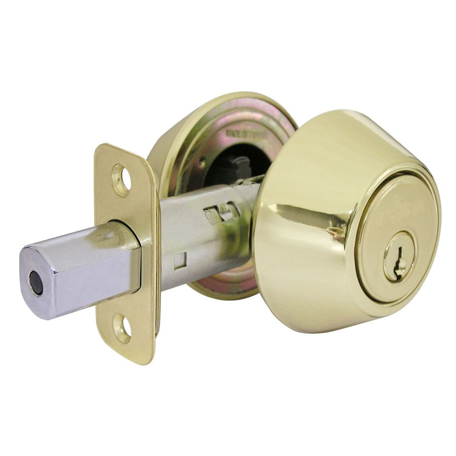 Gatehouse Polished Brass Double-Cylinder Deadbolt
