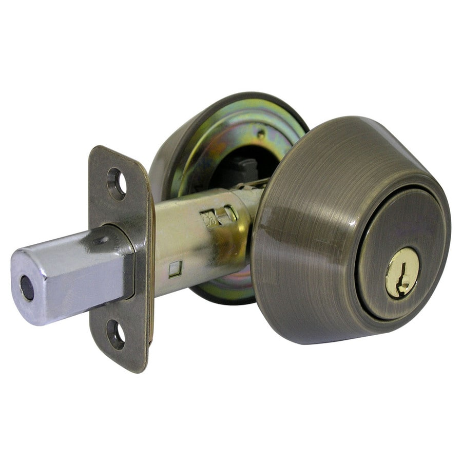 Gatehouse Antique Brass Double-Cylinder Deadbolt