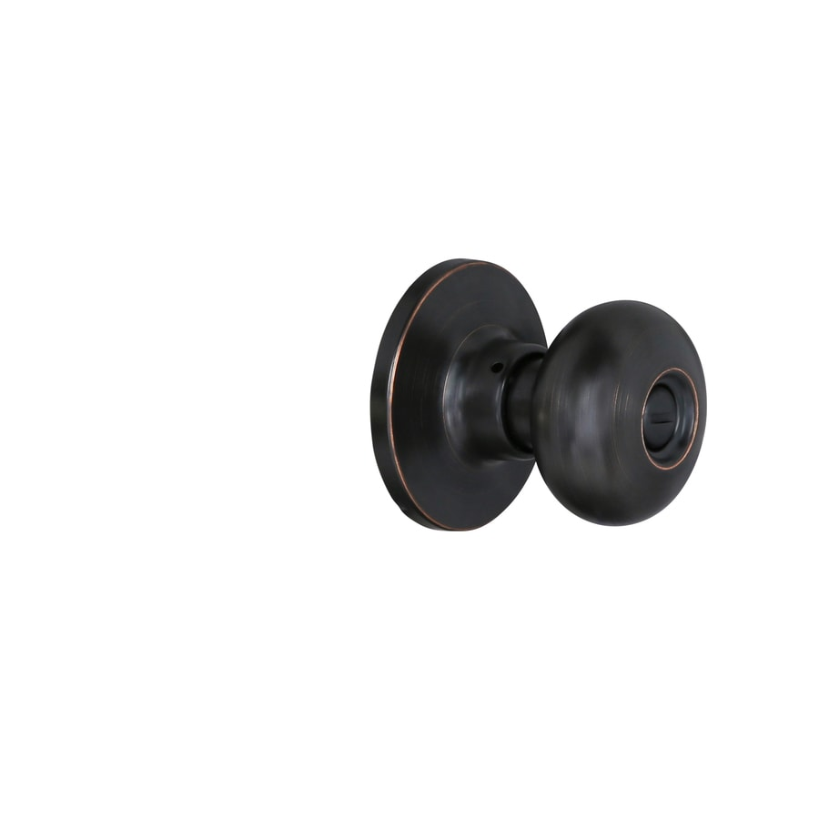 Gatehouse Baron Aged Bronze Mushroom Turn-Lock Privacy Door Knob
