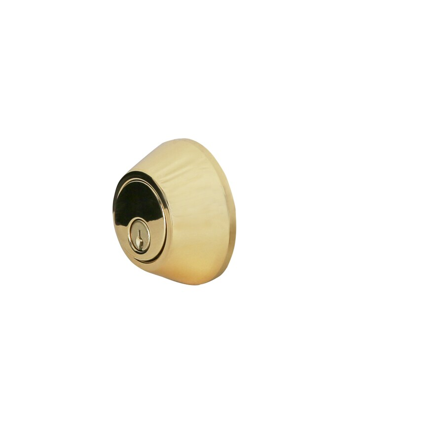 Gatehouse Polished Brass Single-Cylinder Deadbolt