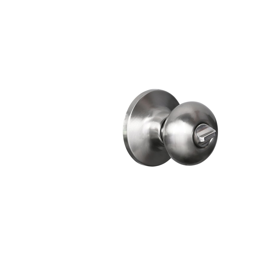 Shop Gatehouse Baron Satin Nickel Mushroom Keyed Entry Door Knob At