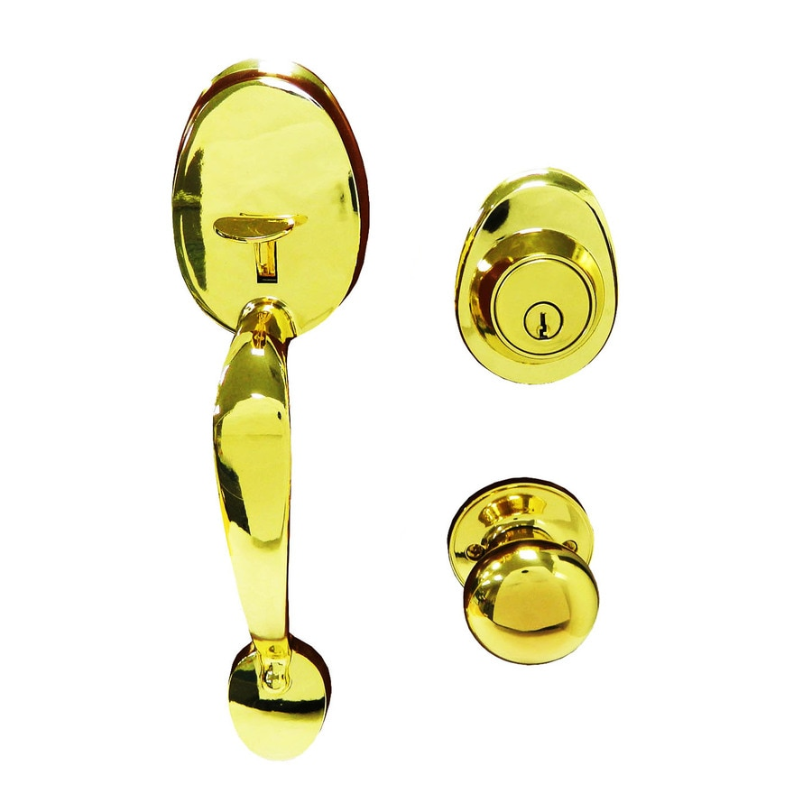 Gatehouse Lexington Polished Brass Single-Lock Keyed Entry Door Handleset