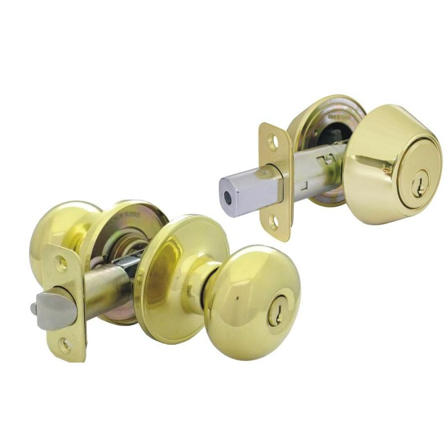 Gatehouse Baron Polished Brass Mushroom Keyed Entry Door Knob
