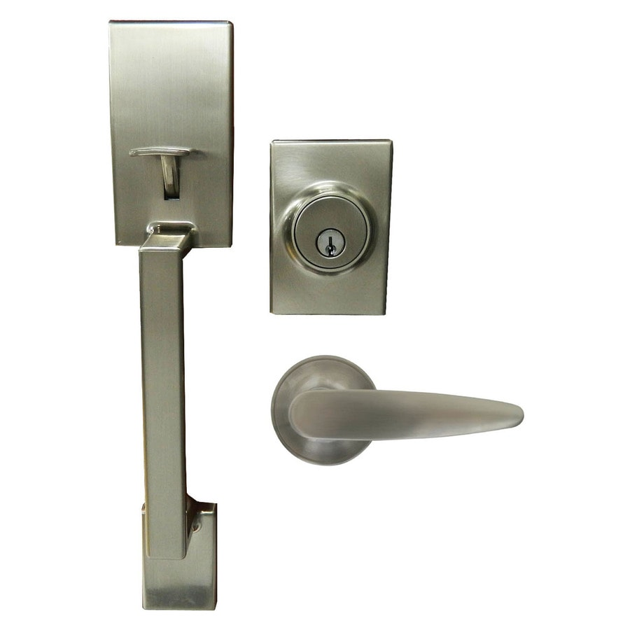 Gatehouse Parma Satin Nickel Single Lock Keyed Entry Door Handleset
