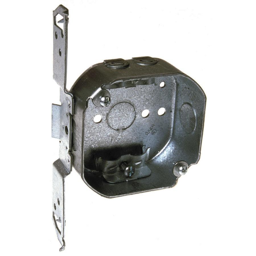 Raco 1-Gang Gray Metal Interior New Work Standard Octagonal Celing/Wall Electrical Box