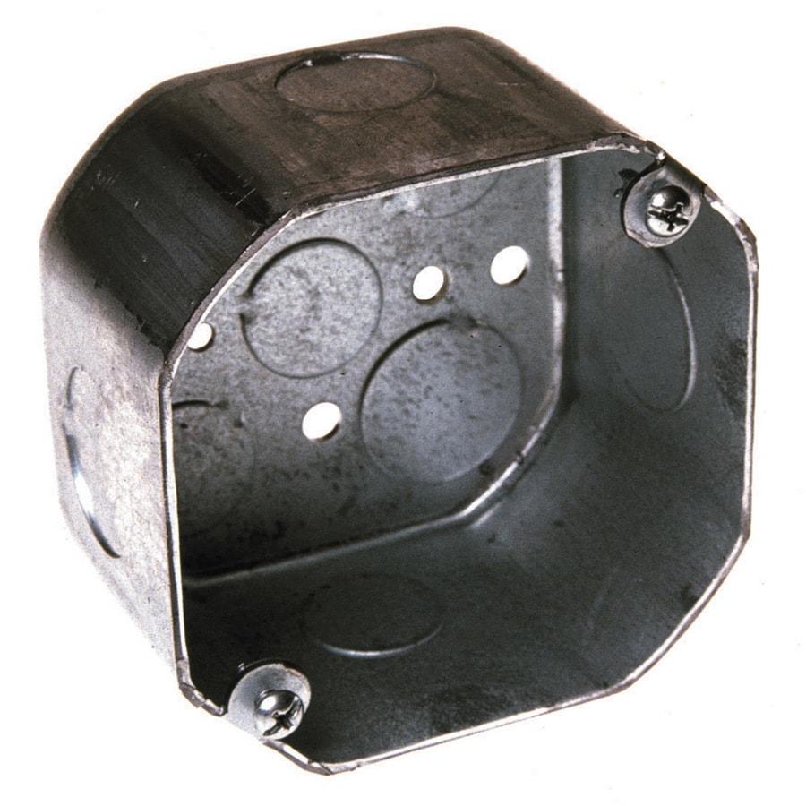 Raco 1-Gang Gray Metal Interior New Work Deep Octagonal Wall Electrical Box