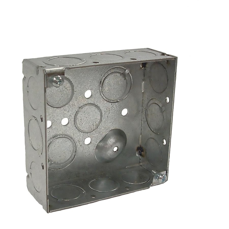Raco 2-Gang Gray Metal Interior New Work Square Celing/Wall Electrical Box