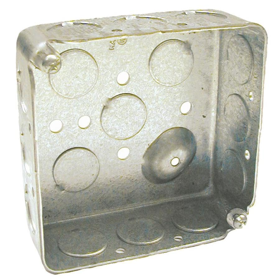 Raco 2-Gang Gray Metal Interior New Work Standard Square Electrical Box