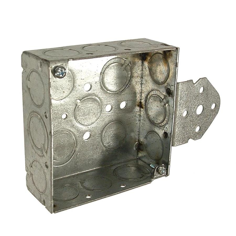 Raco 21-cu in 2-Gang Metal Square Wall Electrical Box