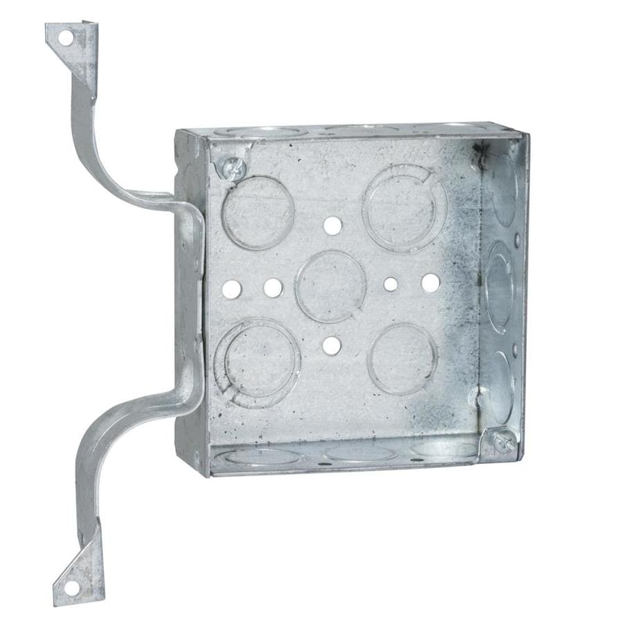 Raco 2-Gang Gray Metal Interior New Work Standard Square Wall Electrical Box