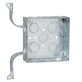 RACO 2 Gang Gray Metal Interior New Work Standard Square Wall Electrical Box
