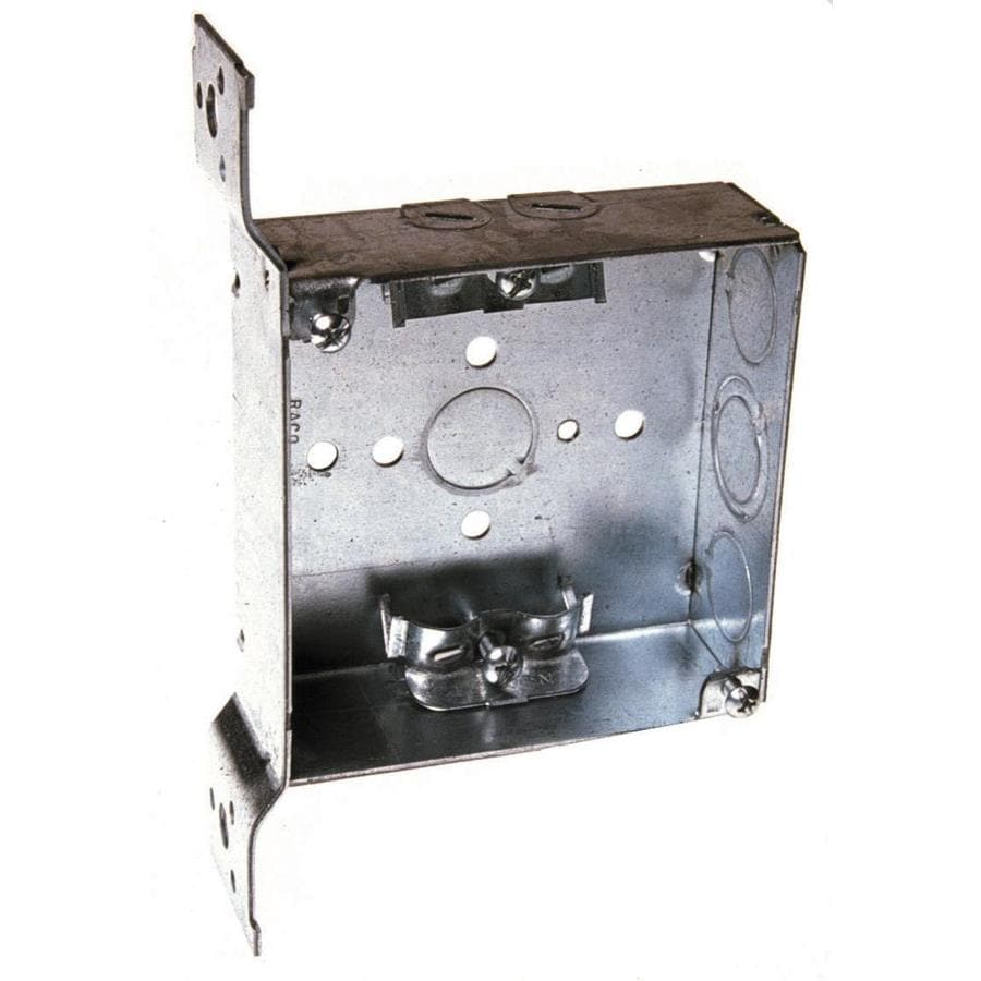 Raco 1-Gang Gray Metal Interior New Work Standard Square Wall Electrical Box