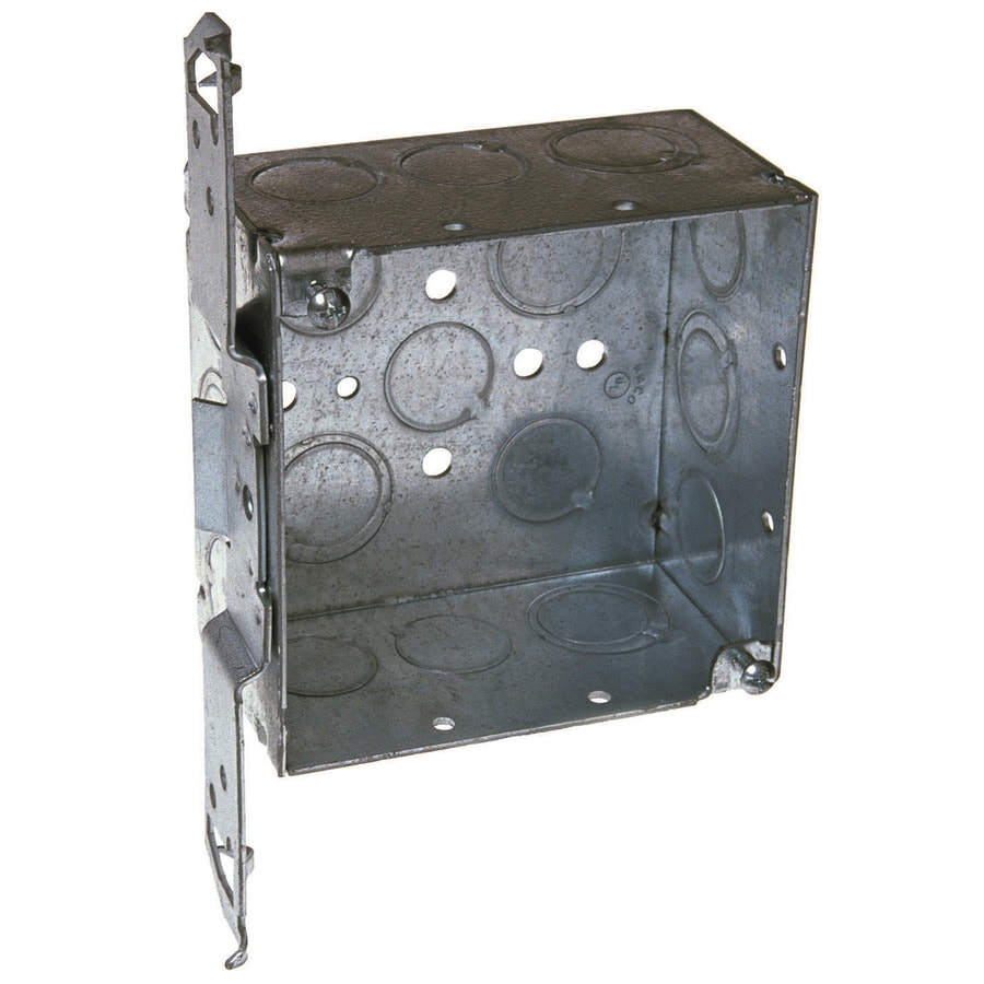 Raco 2-Gang Gray Metal Interior New Work Standard Square Celing/Wall Electrical Box