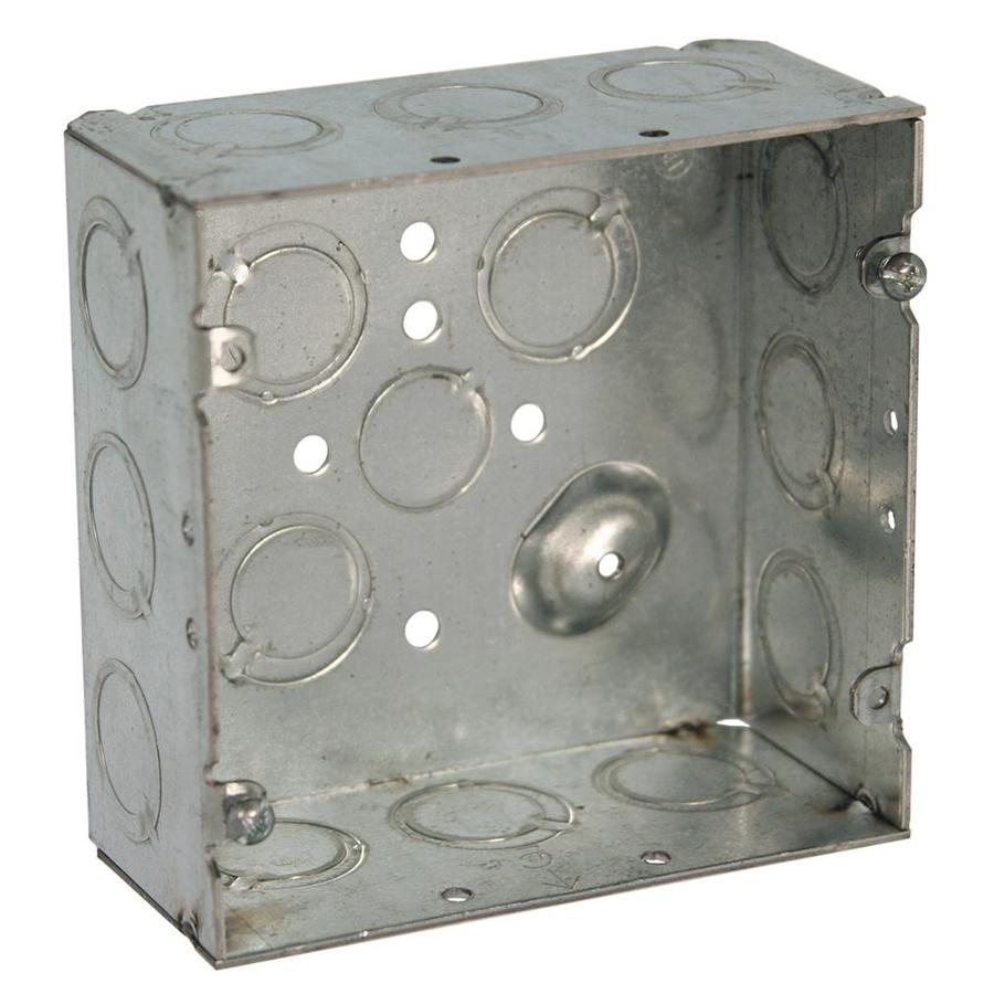 Electrical Wall Boxes : Shop raco gang gray metal interior new work standard