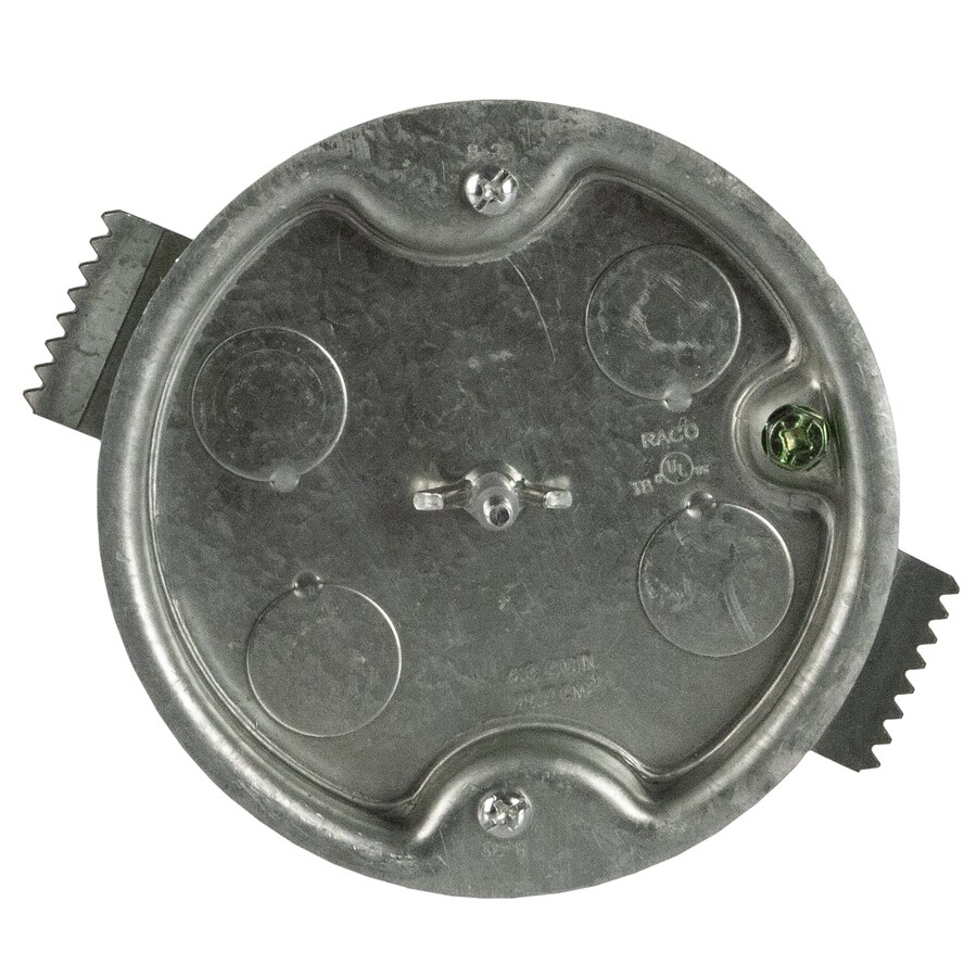 1-Gang Metal Interior New Work//Old Standard Octagonal Ceiling Electrical Box