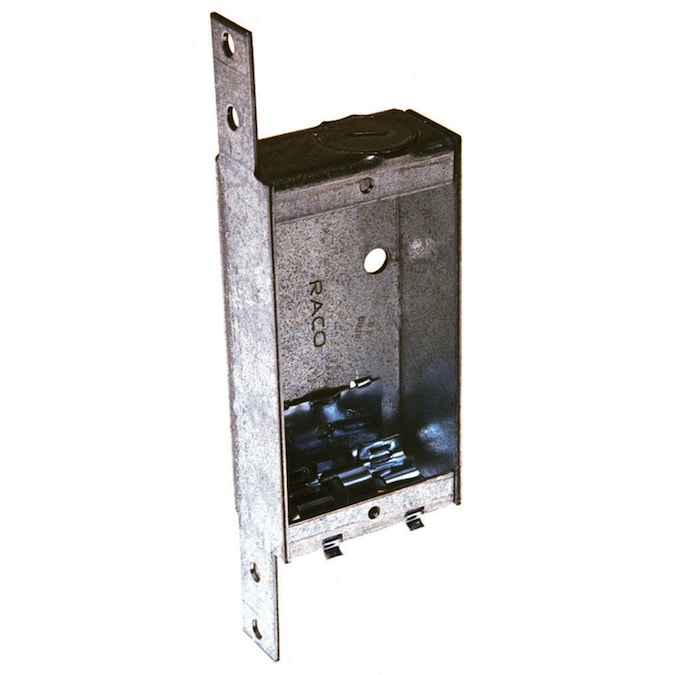 Raco 1 Gang Gray Metal New Work Shallow Switch Outlet Ceiling Wall Electrical Box In The Electrical Boxes Department At Lowes Com