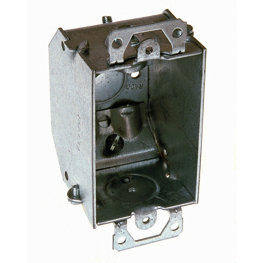 Raco 1-Gang Gray Metal Interior Old Work Deep Square Wall Electrical Box