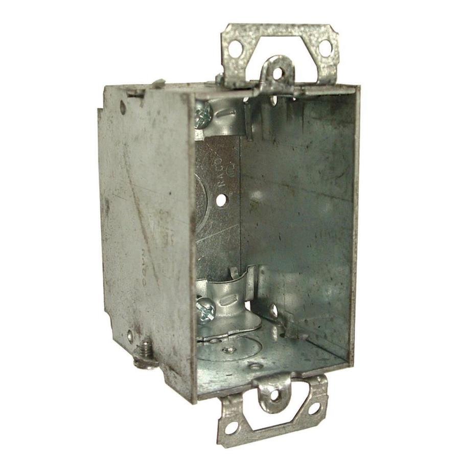 Raco 1-Gang Gray Metal Interior New Work/Old Work Standard Switch/Outlet Celing/Wall Electrical Box