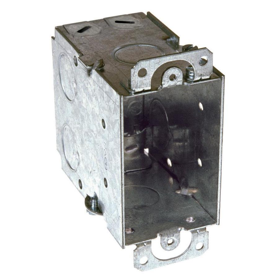 Raco 1-Gang Gray Metal Interior New Work/Old Work Deep Switch/Outlet Celing/Wall Electrical Box